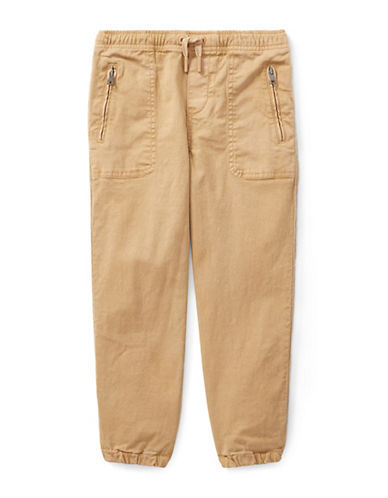 Ralph Lauren Childrenswear Chino-Paneled Terry Jogger Pants-BEIGE-3T