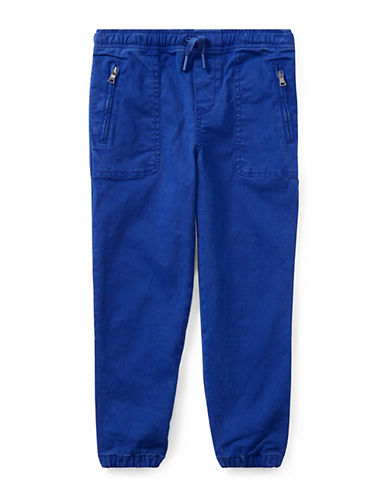 Ralph Lauren Childrenswear Chino-Paneled Terry Jogger Pants-BLUE-4T