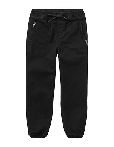 Ralph Lauren Childrenswear Chino-Paneled Terry Jogger Pants-BLACK-4T