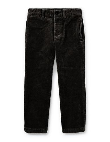 Ralph Lauren Childrenswear Slim-Fit Stretch Corduroy Pants-BLACK-3T