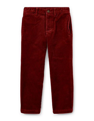 Ralph Lauren Childrenswear Slim-Fit Stretch Corduroy Pants-RED-2T