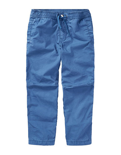 Ralph Lauren Childrenswear Cotton Poplin Jogger Pants-BLUE-3T