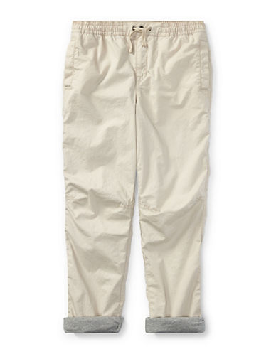 Ralph Lauren Childrenswear Cotton Poplin Jogger Pants-BEIGE-3T