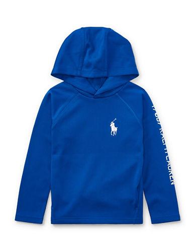 Ralph Lauren Childrenswear Performance Waffle-Knit Hoodie-BLUE-3T