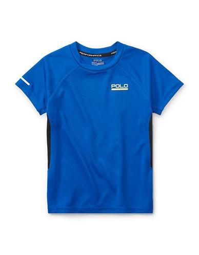 Ralph Lauren Childrenswear Pieced Performance Tee-BLUE-4T