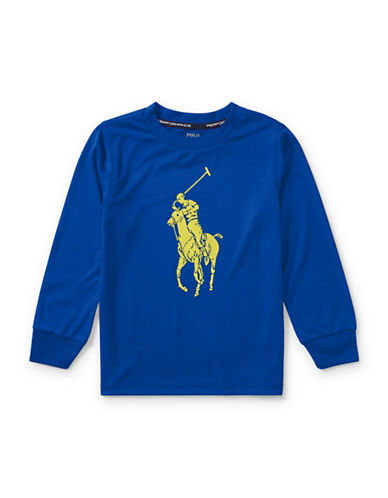 Ralph Lauren Childrenswear Performance Jersey Tee-BLUE-4T