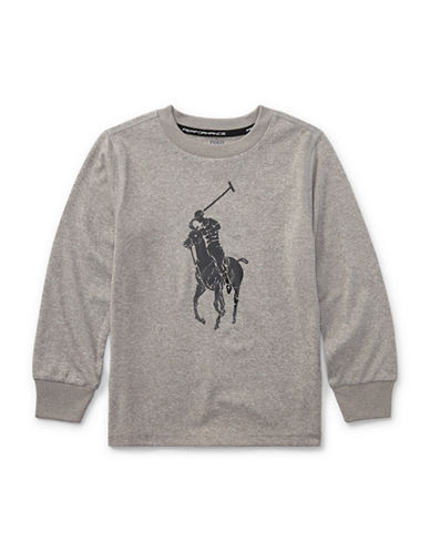 Ralph Lauren Childrenswear Performance Jersey Tee-GREY-4T