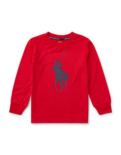 Ralph Lauren Childrenswear Performance Jersey Tee-RED-4T
