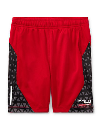 Ralph Lauren Childrenswear Performance Shorts-RED-2T