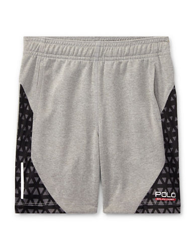 Ralph Lauren Childrenswear Performance Shorts-GREY-3T