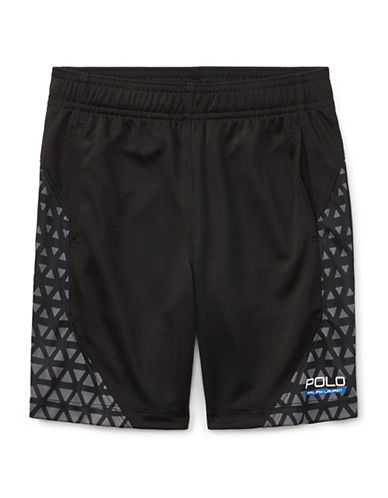 Ralph Lauren Childrenswear Performance Shorts-BLACK-4T