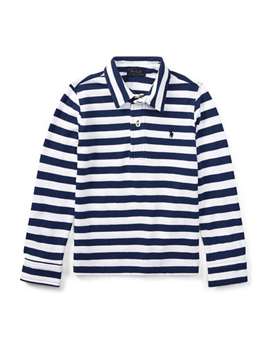 Ralph Lauren Childrenswear Featherweight Cotton Polo-BLUE-5