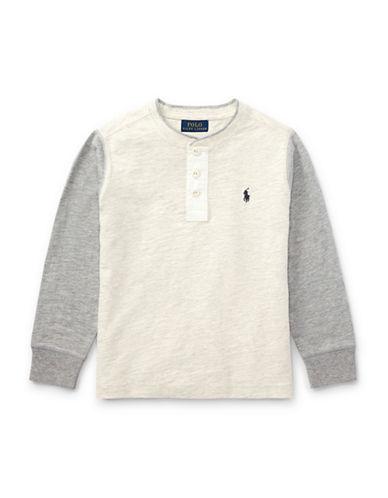 Ralph Lauren Childrenswear Boys Slub Cotton Jersey Henley-WHITE-7