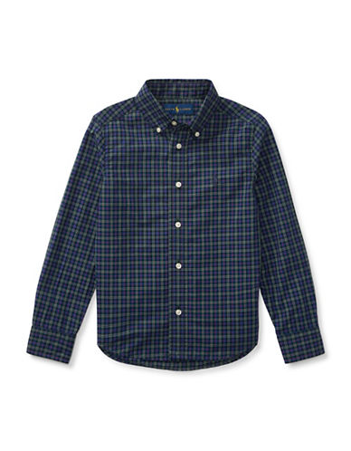 Ralph Lauren Childrenswear Tartan Sport Shirt-BLUE-6