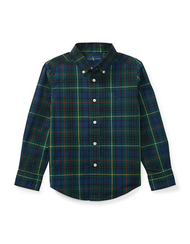 Ralph Lauren Childrenswear Tartan Sport Shirt-GREEN-5