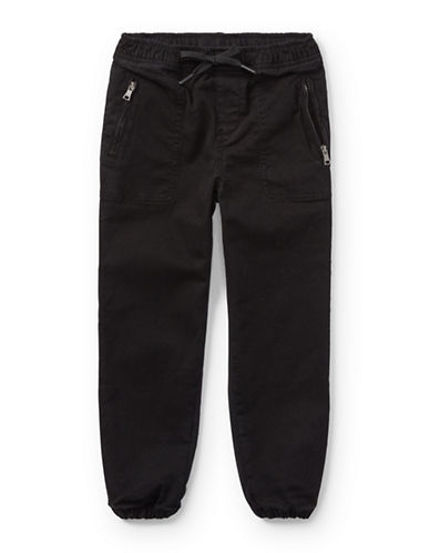 Ralph Lauren Childrenswear Chino-Paneled Pants-BLACK-5