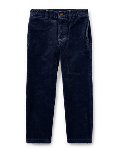 Ralph Lauren Childrenswear Slim-Fit Stretch Corduroy Pants-BLUE-7