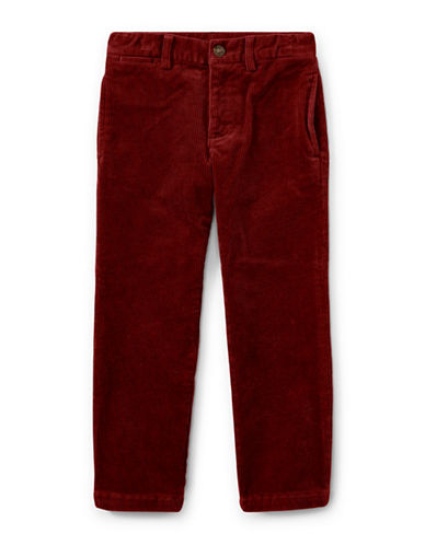 Ralph Lauren Childrenswear Slim-Fit Stretch Corduroy Pants-RED-6