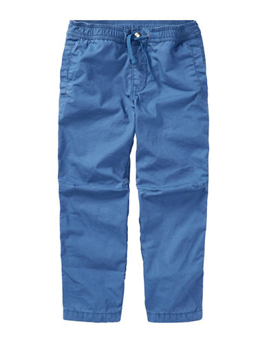 Ralph Lauren Childrenswear Poplin Cotton Jogger Pants-BLUE-6