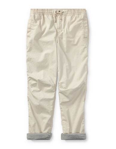 Ralph Lauren Childrenswear Poplin Cotton Jogger Pants-BEIGE-5