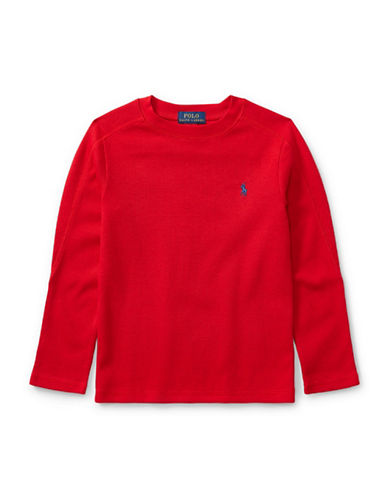 Ralph Lauren Childrenswear Long-Sleeve Cotton T-Shirt-RED-5