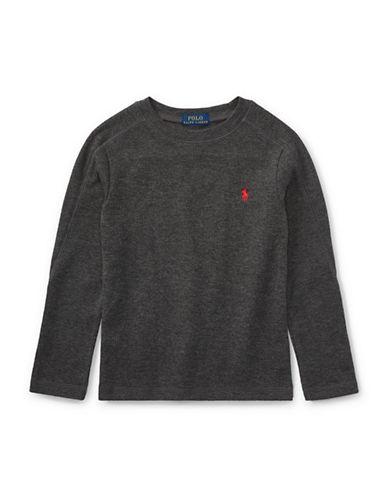 Ralph Lauren Childrenswear Long-Sleeve Cotton T-Shirt-GREY-6