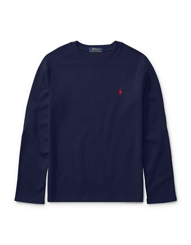 Ralph Lauren Childrenswear Long-Sleeve Cotton T-Shirt-BLUE-5