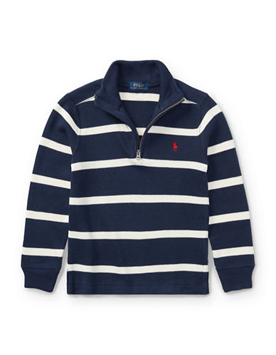 Ralph Lauren Childrenswear Striped French-Rib Pullover-BLUE-5
