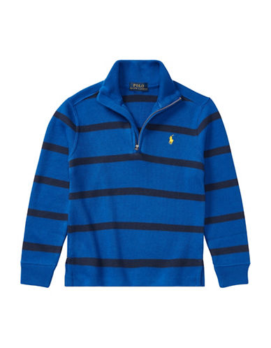Ralph Lauren Childrenswear Striped French-Rib Pullover-BLUE-7