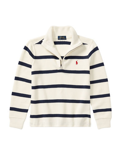 Ralph Lauren Childrenswear Striped French-Rib Pullover-CREAM-6