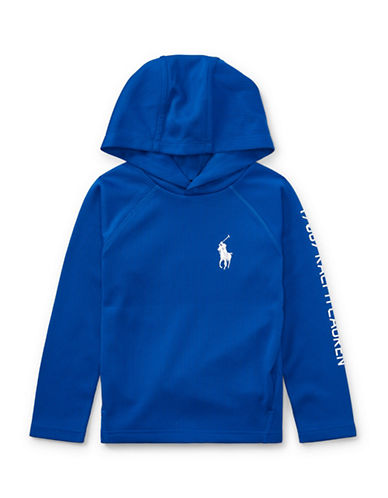 Ralph Lauren Childrenswear Performance Waffle-Knit Hoodie-BLUE-5