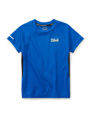 Ralph Lauren Childrenswear Pieced Performance Tee-BLUE-5
