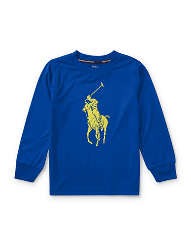 Ralph Lauren Childrenswear Performance Jersey Tee-BLUE-5