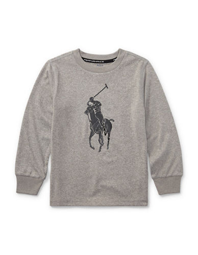 Ralph Lauren Childrenswear Performance Jersey Tee-GREY-7