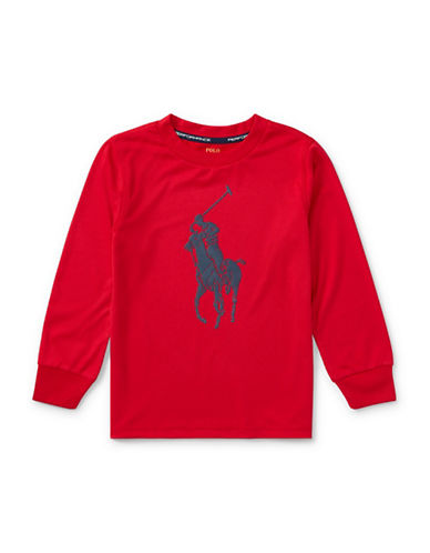 Ralph Lauren Childrenswear Performance Jersey Tee-RED-5