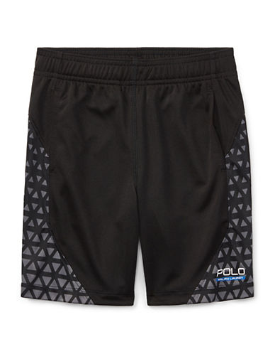 Ralph Lauren Childrenswear Performance Shorts-BLACK-7
