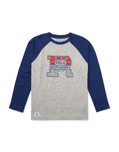 Ralph Lauren Childrenswear Cotton Baseball Cotton T-Shirt-GREY-5