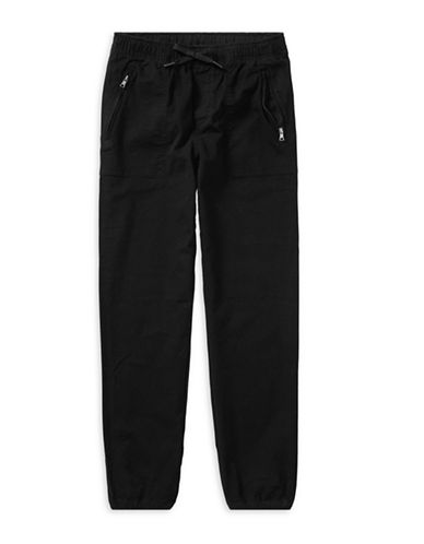 Ralph Lauren Childrenswear Chino-Paneled Pants-BLACK-Medium