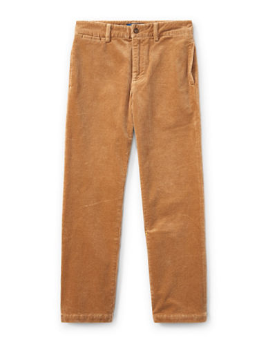 Ralph Lauren Childrenswear Slim-Fit Stretch Corduroy Pants-BEIGE-20