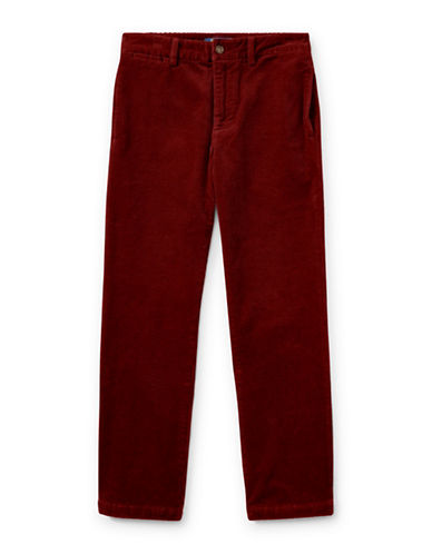 Ralph Lauren Childrenswear Slim-Fit Stretch Corduroy Pants-RED-10