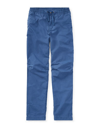 Ralph Lauren Childrenswear Cotton Poplin Jogger Pants-BLUE-Large
