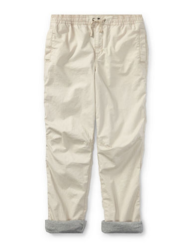 Ralph Lauren Childrenswear Cotton Poplin Jogger Pants-BEIGE-X-Large