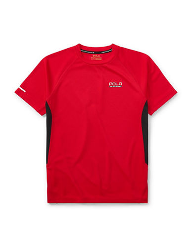 Ralph Lauren Childrenswear Pieced Performance Tee-RED-Small