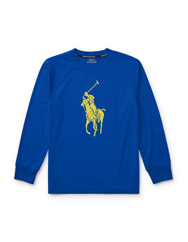 Ralph Lauren Childrenswear Performance Jersey Tee-BLUE-Large