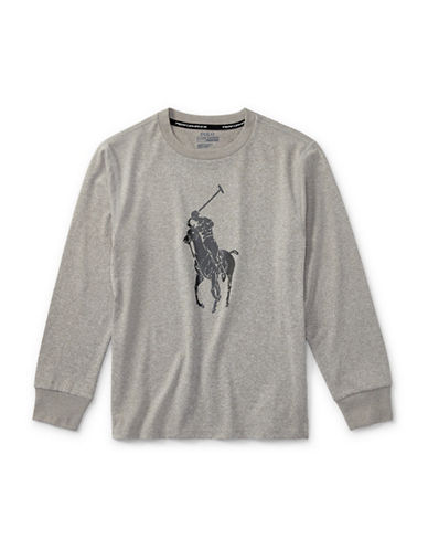 Ralph Lauren Childrenswear Performance Jersey Tee-GREY-Small