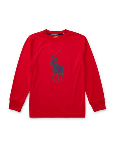Ralph Lauren Childrenswear Performance Jersey Tee-RED-X-Large