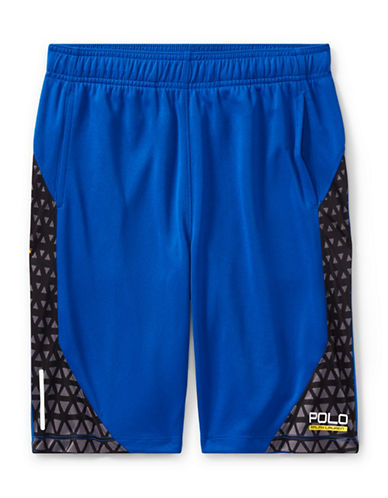 Ralph Lauren Childrenswear Performance Shorts-BLUE-Large