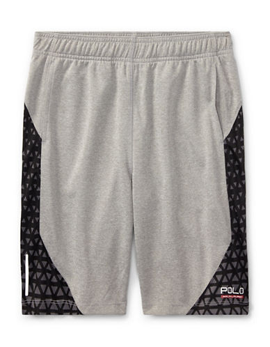 Ralph Lauren Childrenswear Performance Shorts-GREY-Medium