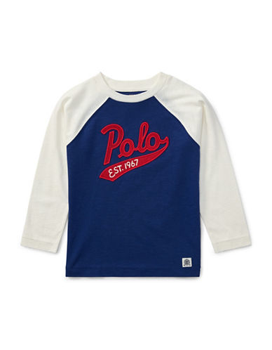 Ralph Lauren Childrenswear Cotton Baseball T-Shirt-BLUE-X-Large