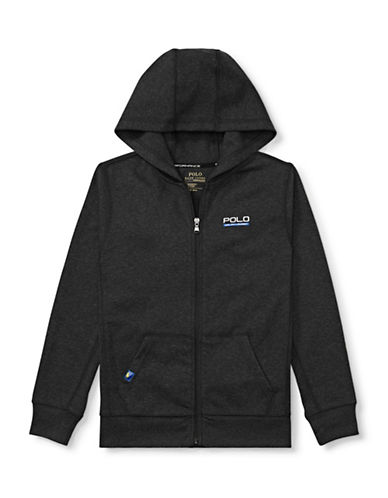 Ralph Lauren Childrenswear Tech Fleece Full-Zip Hoodie-BLACK-Large 89477847_BLACK_Large